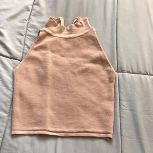 Oliviaceous Nude/Beige Crop Top